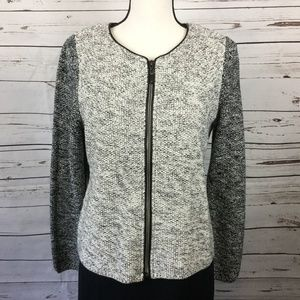Talbots Knit Zip Up Jacket, Size LP